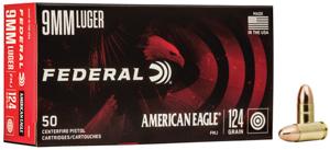 Federal 9MM LUGER 124GR FMJ AE9AP