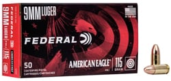 Federal 9MM LUGER 115GR FMJ AE9DP